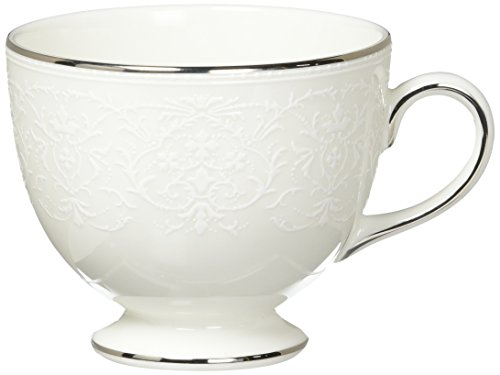 - English Lace Wedgewood Fine Bone China Teacup Leigh