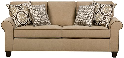 Simmons Upholstery 1691-03 Beachfront Froth Beachfront Froth Sofa, Large, Brown