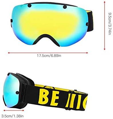 B07QRTHBVD Ponis-Limos - Skiing Eyeware/Glasses Case(sale alone) Winter Snowboard Skate Ski Snow Sport Anti-fog Anti-UV Goggles Glasses for Cycling Skiing 319yn5vLWWL