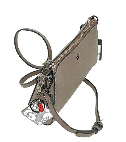 Ynot In G733 Bag Borsa Leather Tracolla Con Taupe Saffiano Shoulder Pelle RwE6Iq