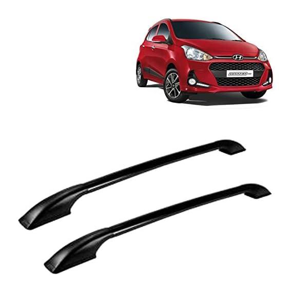 Vocado Exclusive Car Drill Free Roof Rails Black for Hyundai Grand i10