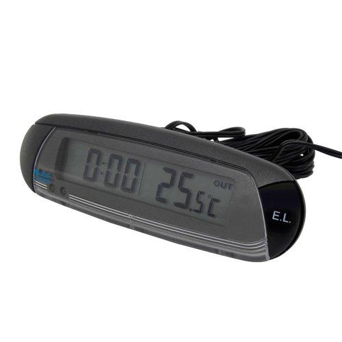 Carpoint 1110006 Thermometer Innen/Aussen mit Uhr und Eis-Alarm