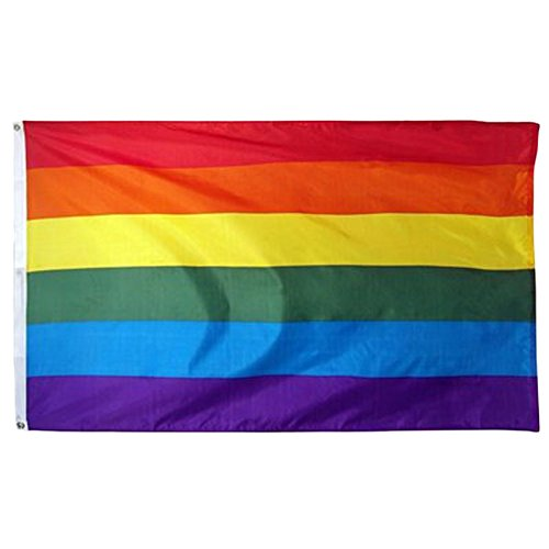 Johnin 3x5 ft LGBT Rainbow Flag - Double Side Color and UV F