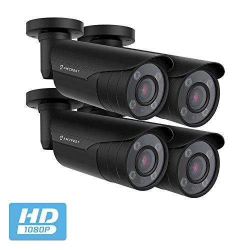 Cheap 4-Pack Amcrest 4xOptical Zoom HD Bullet Outdoor Security Camera (Quadbrid 4-in-1 HD-CVI/TVI/AHD/Analog), 2MP 1920x1080P, 164ft NightVision, Motorized Varifocal Lens 40°-90°, (4PACK-AF-2MBC-VARIB)