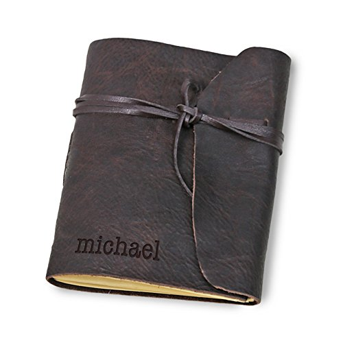 Rustic Hand Sewn Genuine Leather Wrap Journal
