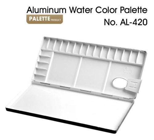 Aluminum-Water-Color-Palette-20colors-Compartments-No-420 Aluminum-Water-Color-Palette-20colors-Compartments-No-420 Aluminum Water Color Palette 20colors Compartments No.420