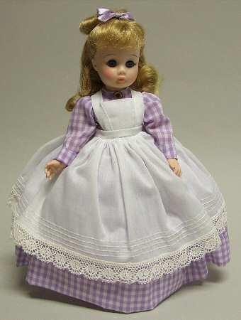 Madame Alexander Meg #1323 Little Women Series Purple Checkered Dress White Apron 12' Inch Doll ()