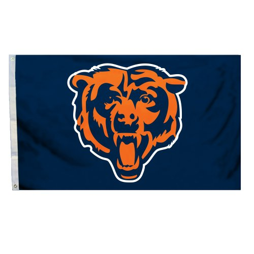 (NFL Chicago Bears 3 x 5-Feet Flag with)