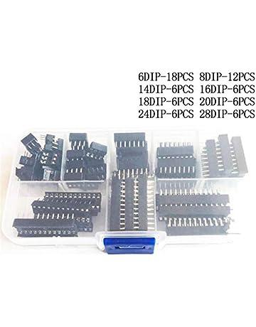tyughjytu DIP Zócalos CI Adaptador de Soldadura tipo de socket Kit 6, 8, 14