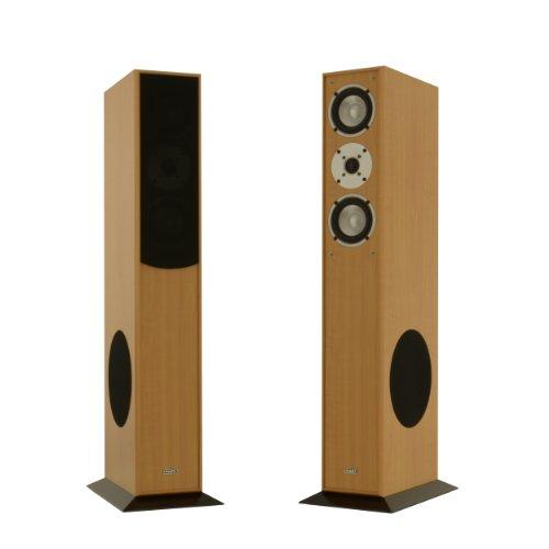 1 Paar Standlautsprecher Mohr SL15 Buche Lautsprecherboxen, HiFi Klang zum günstigen Preis, elegante HiFi Standboxen aus Holz, als Stereolautsprecher oder Heimkinolautsprecher geeignet