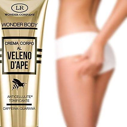 Imagen de la crema anticelulitis Wonder Body, crema corporal anticelulítica con veneno de abeja disponible en Amazon