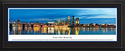 Louisville, Kentucky at Twilight - Blakeway Panoramas Unframed Skyline Posters-P