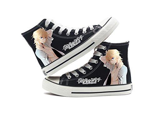 Séraphin De La Fin Anime Chaussures De Toile Cosplay Chaussures Sneakers Noir / Blanc Noir 1