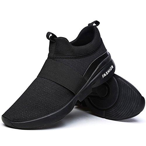 Zapatos De Deportes Negro Running Asfalto Aire Hombre Wealsex Correr Montaña En Libre Para Zapatillas Tq1gvd