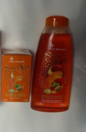 Yves Rocher Orange -Almond Fruit de Noel 2-piece gift Set ()