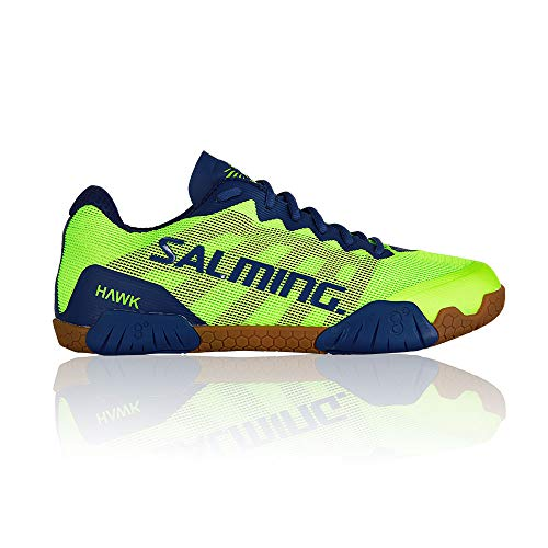 Salming Hawk Indoor Handball Shoes neon/green/blue, EU Shoe Size:44 EU ()