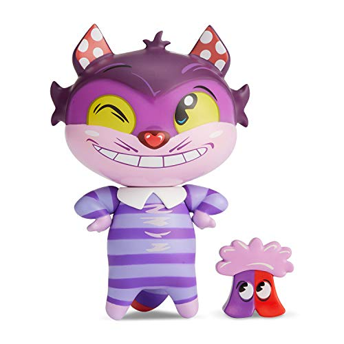 "Enesco World of Miss Mindy Presents Disney Designer Collection Cheshire Cat Vinyl Figurine, 7"", Multicolor"