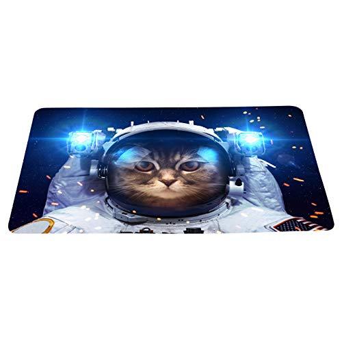 wizardry1986 Funny Cat As an Astronaut Doormat Cartoon Space Humor Floor Mat with Non-Slip Backing Bath Mat Rug Novelty Home Decor (16
