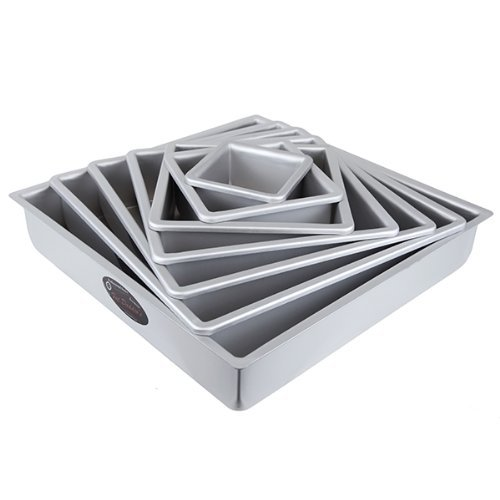 Fat Daddios Odd Square Cake Pan, Set of 7
