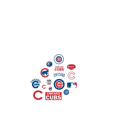 Fathead MLB Chicago Cubs Chicago Cubs: Logo Assortment - Large Officially Licensed MLB Removable Wall Decals (Cub Decal Wall)