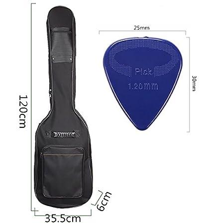 kenthia doble correas para guitarra bajo eléctrico bolsa de ...