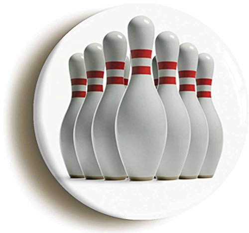 [Bowling Pins Button Pin (Size Is 1inch Diameter) Ten Pin Dude] (Lebowski Costume Ideas)