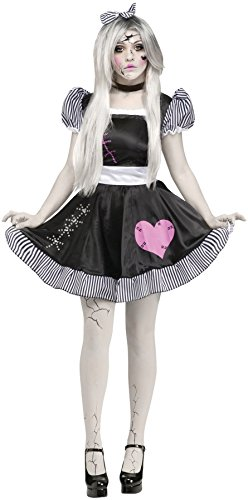 [GTH Women's Broken Doll Theme Party Fancy Dress Halloween Costume, Small/Medium (2-8)] (Broken Doll Costume For Adults)