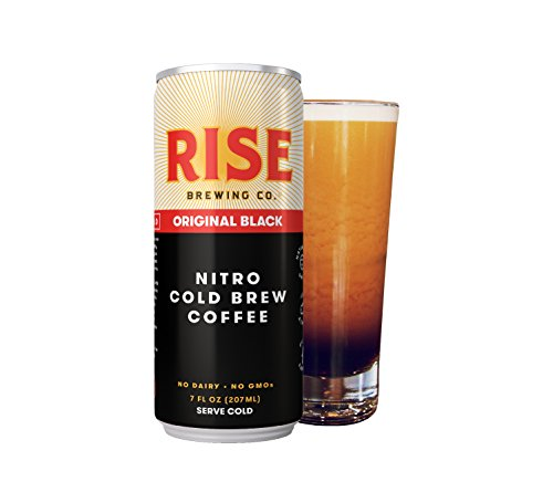 RISE Brewing Co. Original Black Nitro Cold Brew Coffee (12 7 fl. oz. Cans) – Sugar, Gluten & Dairy Free | Organic, Non-GMO Ingredients | Clean Energy, Low Acidity, Naturally Sweet | 0 Calories