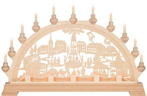 Kunstgewerbe Taulin Candle Arch - Christmas Market - 89x49 cm / 35x19.3 inch