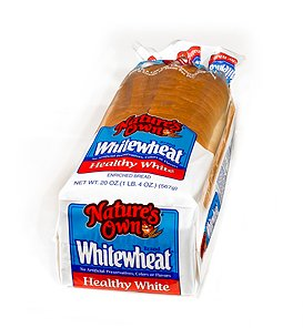NATURES OWN WHITE WHEAT BREAD 20 OZ (Fiber Bread)