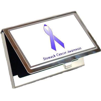 Stomach Cancer Awareness Ribbon Business Card Holder