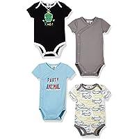 Silly Apples Baby 4-Pack Short-Sleeve Bodysuit