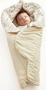 e834632c98ed6c Wallaboo Babynomade Couverture enveloppante Leaf, Manta para Bebé, Práctica  y Suave, Douce et élegante, Daim microfibre extra douce, 85 x 85 cm, Ecru  Achat