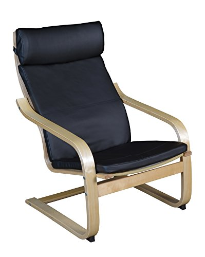 Niche N2020LNTBK Mia Bentwood Reclining Lounge Chair, 36