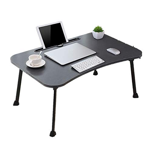 (Multi Tasking Laptop Bed Tray - Lap Desk Supports Foldable Portable Standing Outdoor Camping Table - Breakfast Reading Tray Holder for Couch Floor for Adults/Students/Kids - NoeCare)