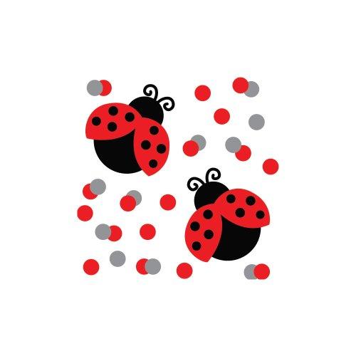 Invitation Baby Ladybug Shower (Creative Converting Ladybug Fancy Printed Confetti)