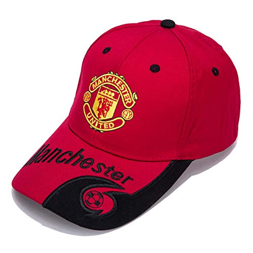Crystal Cincinnati Reds Baseball - Manchester United F.C. -Embroidered Authentic EPL Adjustable Red Baseball Cap