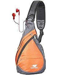 Anti Theft Sling Bag - Small Chest Shoulder Crossbody Backpack for Men & Women