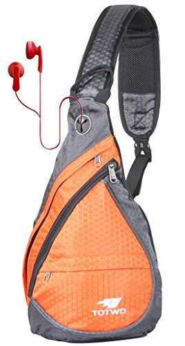Price comparison product image Anti Theft Sling Bag - Small Chest Shoulder Crossbody Backpack for Men & Women Orange