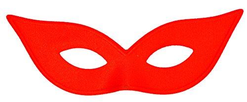 Morris Costumes Women's Harlequin Mask Satin Red - Satin Harlequin Mask