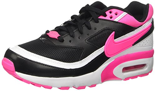 Nike Air Max Bw Big Kids Style Shoes : 834224, Black/Pink Blast-White, 5.5