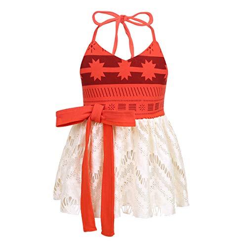 iEFiEL Baby Girls Costumes Halter Digital Printed Dress Halloween Cosplay Party Skirt Red 2-3 -