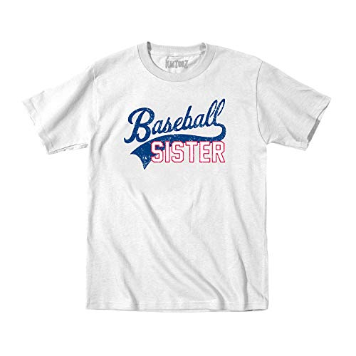 Instant Message Baseball (Tail) Sister -Toddler Short Sleeve TEE-5T White