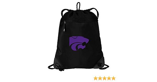 K-State Drawstring Bag Kansas State Cinch Pack Backpack Unique MESH /& Microfiber