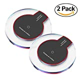 Wireless Charger,Youlifang 2-pack S6/S7/8 Wireless Charger Pad for iphone8/8plus iPhone X Samsung Galaxy S8/S7/S6/Edge/Plus/S6 Active,Moto Maxx, Moto Droid Turbo 2/Turbo,Google Nexus 6/5/4.Black