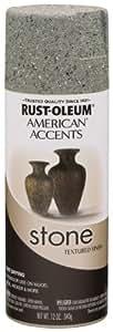 Rust-Oleum 7992830 Stone Creations Spray, 12 oz, Gray Stone