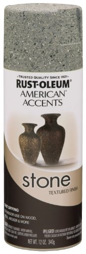 - Rust-Oleum 7992830 Stone Creations Spray, 12 oz, Gray Stone
