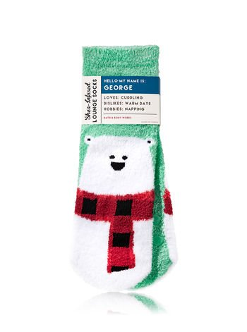 Bath and Body Works Shea-Infused Lounge Socks. George The Polar Bear.