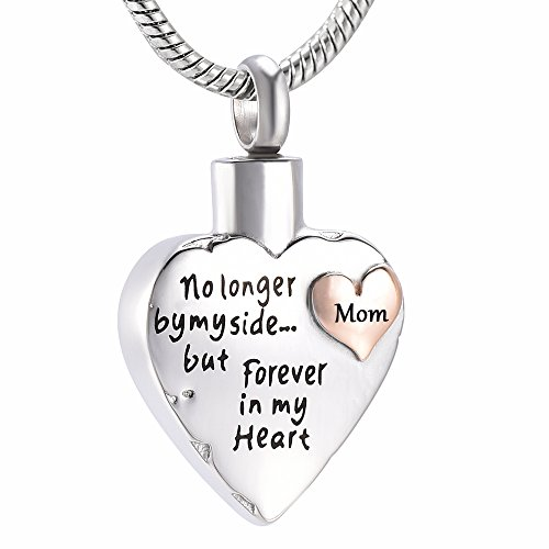 Memorial Jewelry Mom Son Sister Daughter Brother Nan Dad Forever In My Heart Cremation Jewelry Keepsake Memorial Urn Necklace
