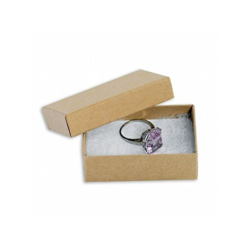 Box Packaging Jewelry Box, Kraft, 2-1/2'' x 1-1/2'' x 7/8'' - Case of 100 by Box Packaging